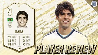 91 ICON SWAPS KAKA PLAYER REVIEW! - IS HE WORTH GETTING?! - FIFA 20 ULTIMATE TEAM