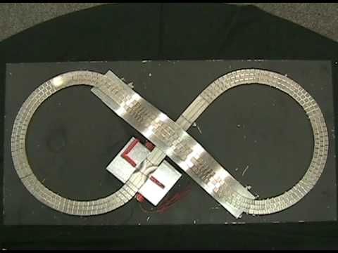 Superconducting Magnetic Levitation (MagLev) on a Magnetic Track