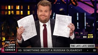James Corden Has Trump's Tax Returns