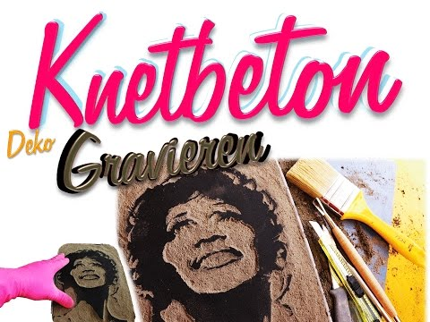 DIY    ACRYBILD Auf KNETBETON Gravieren!   Betonbild   Stencilbild   Deko Aus Beton