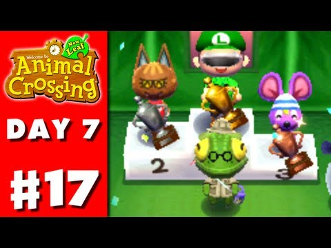 Animal Crossing: New Leaf - Part 17 - Bug-Off Awards (Nintendo 3DS Gameplay Walkthrough Day 7)