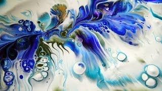 Arteza acrylic paints review & Underwater flower dip