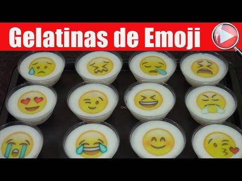 Gelatinas Individuales con Transfer de Emoji - Recetas en Casayfamiliatv