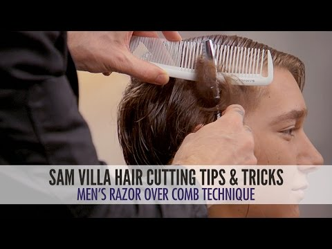 Men's Undercut Tutorial: Razor Over Comb Hair Cutting Technique