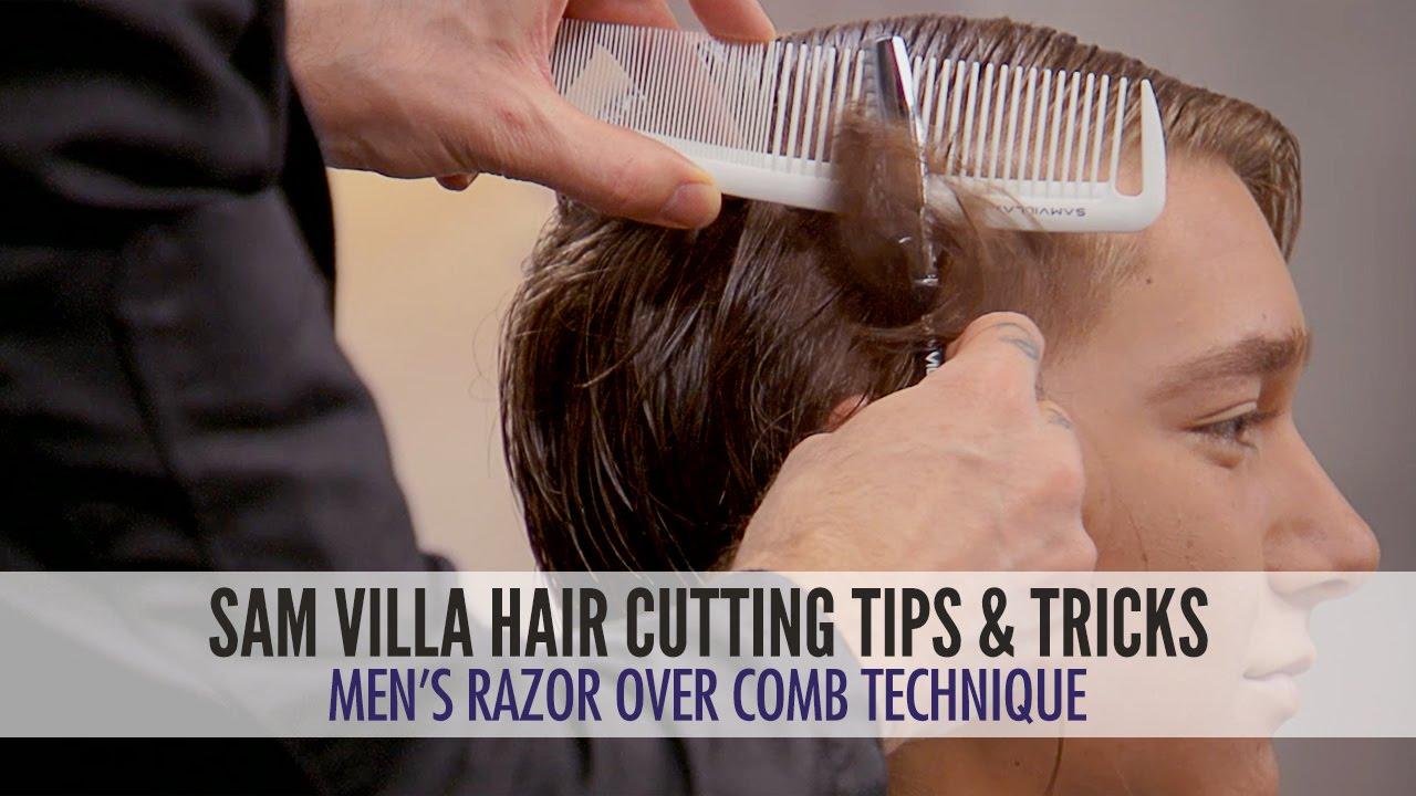 Mens Undercut Tutorial Razor Over Comb Hair Cutting