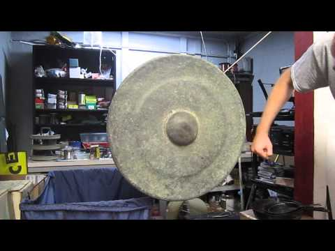"BIG 27"" Antique 1800's Vintage Hand Made Brass Gong Tawak Canang Brunei"