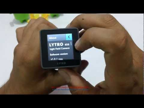 Lytro Light Field Camera Review - Demo On-Screen Settings & Features