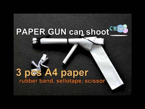 How to make a paper gun can shoots