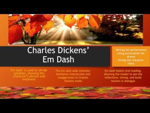 Pumphrey Educational: Charles Dickens em dash
