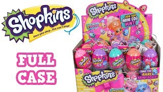 Shopkins Easter Eggs Mini Egg Hunt Blind Box Full Case Unboxing Surprise Egg Opening Entire Case