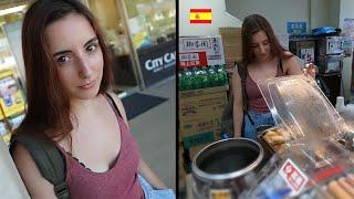 《帶西班牙美女見識台灣超商的強大和食物》不敢相信的世界第一 Spanish Girl Visits Taiwan's MIGHTY Convenience Stores
