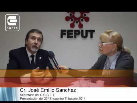 Cr  Jose Emilio SANCHEZ   Presentación 23 Encuentro Tributario 2014