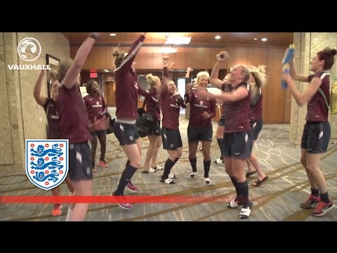 England Women's team do Kolo/Yaya Toure chant | Inside Access