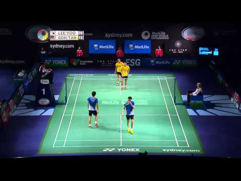 2014 The Star Australian Badminton Open-qf-md-lee Y D yoo Ys [4] (kor) Vs Goh V S tan W K (mas) video