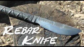 DIY Rebar Knife w Common Tools, No Anvil.