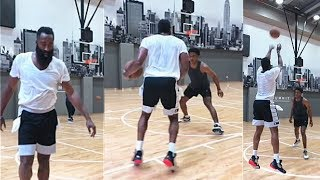 James Harden GOES 1-ON-1 vs Stanley Johnson & Allonzo Trier!