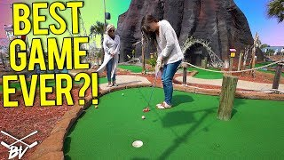 HER BEST MINI GOLF GAME EVER! - SO MANY MINI GOLF HOLE IN ONES!