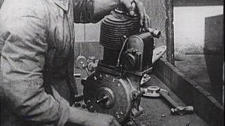 Early Motorcycle Manufacture - The Rover Imperial (*silent movie)