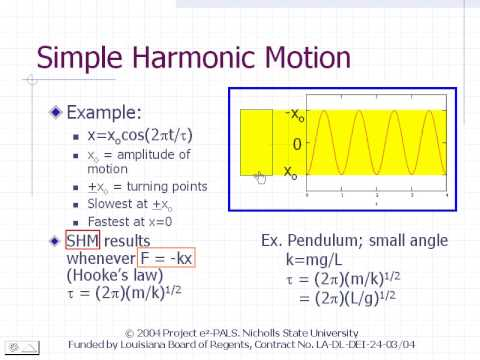 simple harmonic motion shm of a simple pendulum essay
