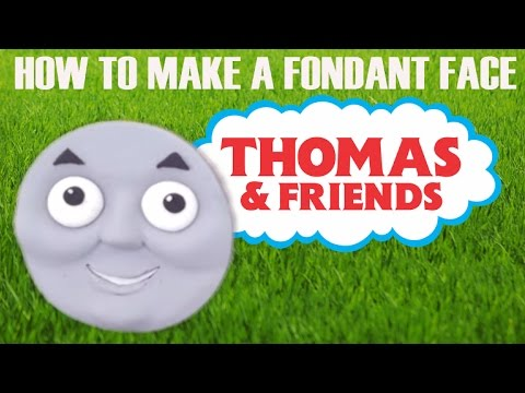 how to make a fondant thomas the tank engine cake face ann reardon howtocookthat.net