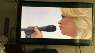 Kelly Clarkson- Singing- National Anthem- Races Indy 500 NBC. May 26, 2019.