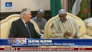 Bilateral Relations: U.S. Secretary Of State Rex Tillerson Visits Nigeria Report