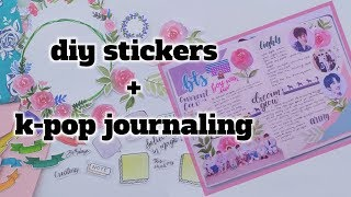 Diy stickers // how to make stickers for planner and Bullet journal // k-pop journaling