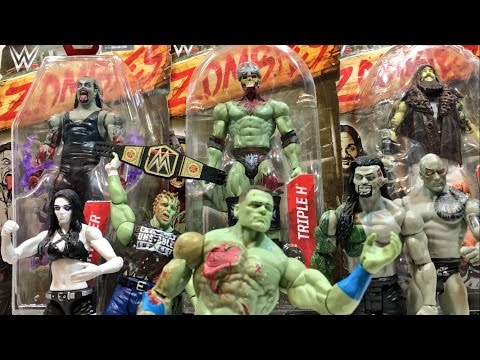 WWE ZOMBIE APOCALYPSE feat. HILARIOUS Mattel Zombie Wrestling Figures Review