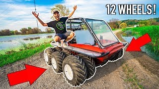 I Bought a HOMEMADE 12 WHEEL ATV for My FARM!!!! (It Floats!)