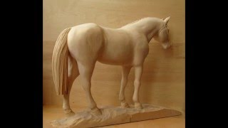 "Wood carving sculpture ""Arabian horse"""