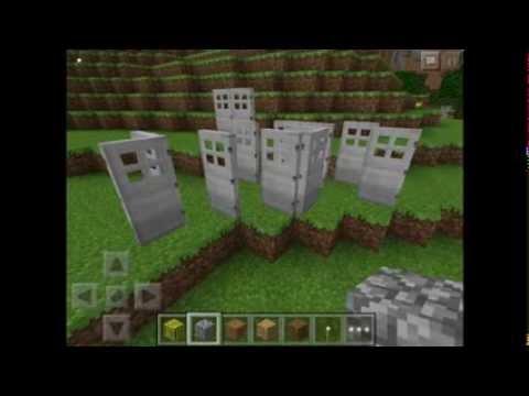 MCPE - How To Get Iron Doors In Creative