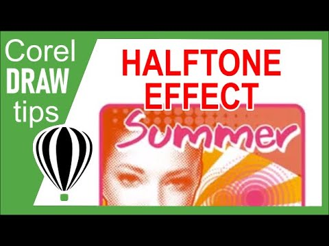 Converting a photo to halftone in CorelDraw