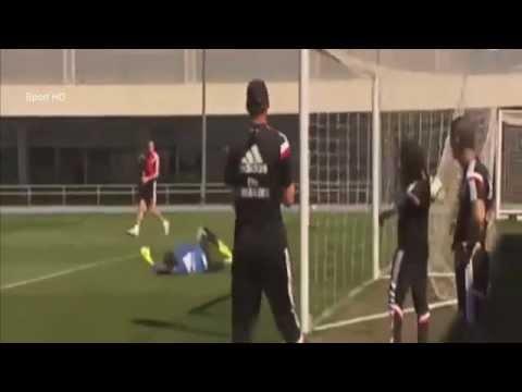 Gareth Bale Amazing Goal Real Madrid Training 2015