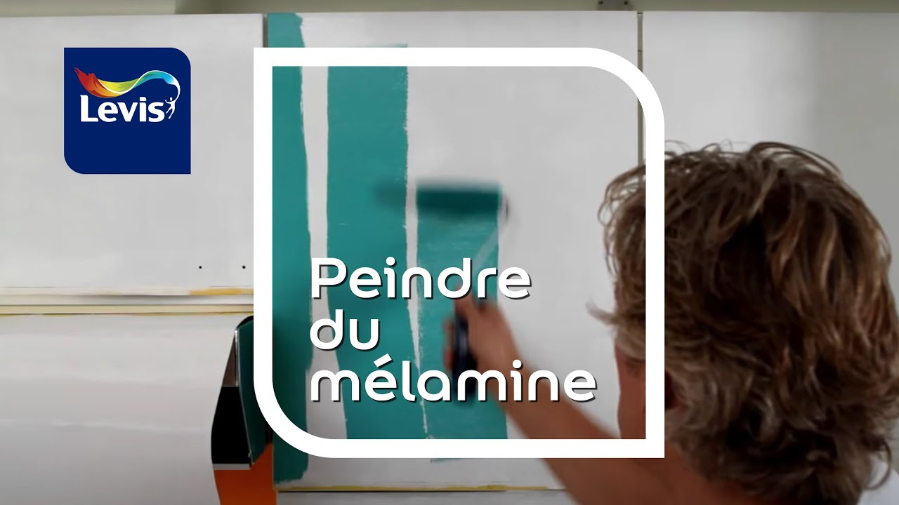 Comment peindre du m lamine youtube for Peindre melamine
