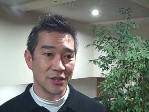CEO Ryo Koyama of software startup Yoics in Palo Alto, California (2-28-09)