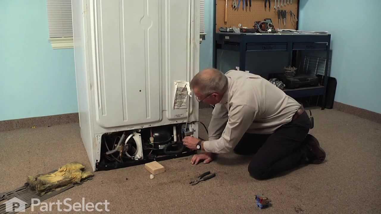 Refrigerator Repair Replacing The Dual Water Inlet Water