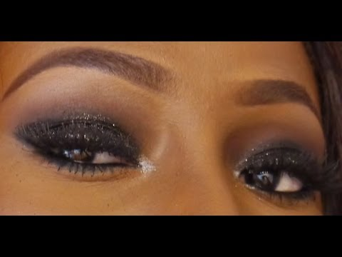 Makeup Tutorial| Black and Brown Smokey Eye with Glitter
