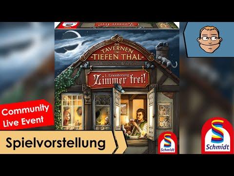 Die Tavernen im Tiefen Thal: Zimmer frei 1. Erweiterung – Brettspiel – Review und Regelerklärung