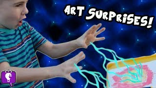 HobbyFrog's SUPER POWERS! He Draws SURPRISE Toys with Crayola Wonder