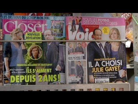 Hollande visits First Lady Valerie Trierweiler in hospital