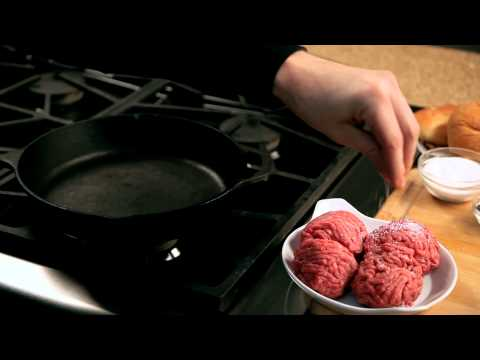 How to make a homemade burger - #9 - Seasoning the meat with salt — Appetites®