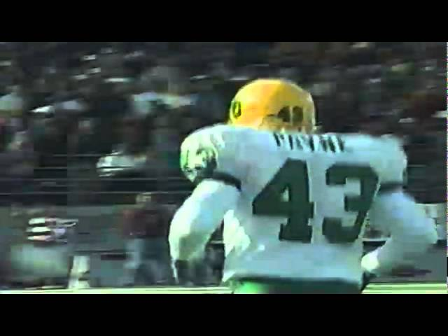 Oregon FB Greg Payne 21 yard catch vs. WSU 10-10-1998