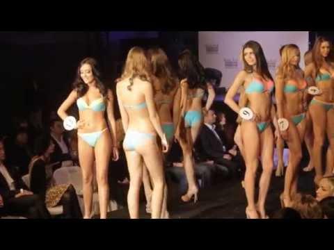 Шикарное дефиле в купальниках. Финалистки Мисс Киев 2014