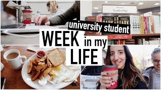 WEEK IN MY LIFE as a UNIVERSITY STUDENT | balancing school and life