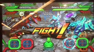 the dinos strikes back!!! (gladios vs the end) and Ultra rare admiral eraser drops???