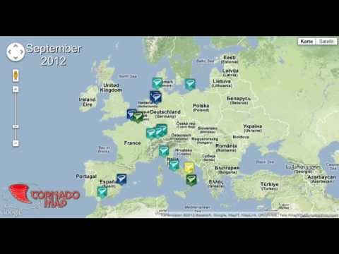 Tornadoflle 2012 in Europa