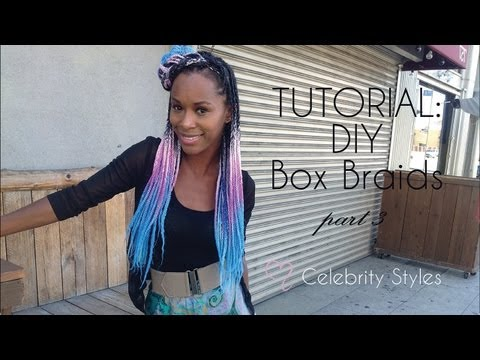 How to Do Box Braids with Kanekalon Hair PART III