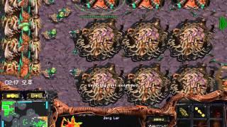 스타크래프트 빨무 2:2 팀플 저그 물량으로 뚫어버리기 저그를 내비두면 안되는 이유(starcraft brood war fastest map 2vs2 zerg play)