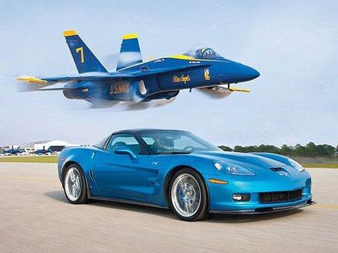 ZR1 Vette vs Jet! - Chevrolet Corvette ZR1 Races A U.S. Navy Fighter Jet