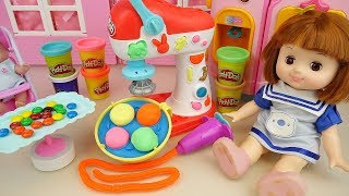 Play doh and baby doll snack food maker toys baby Doli kitchen play